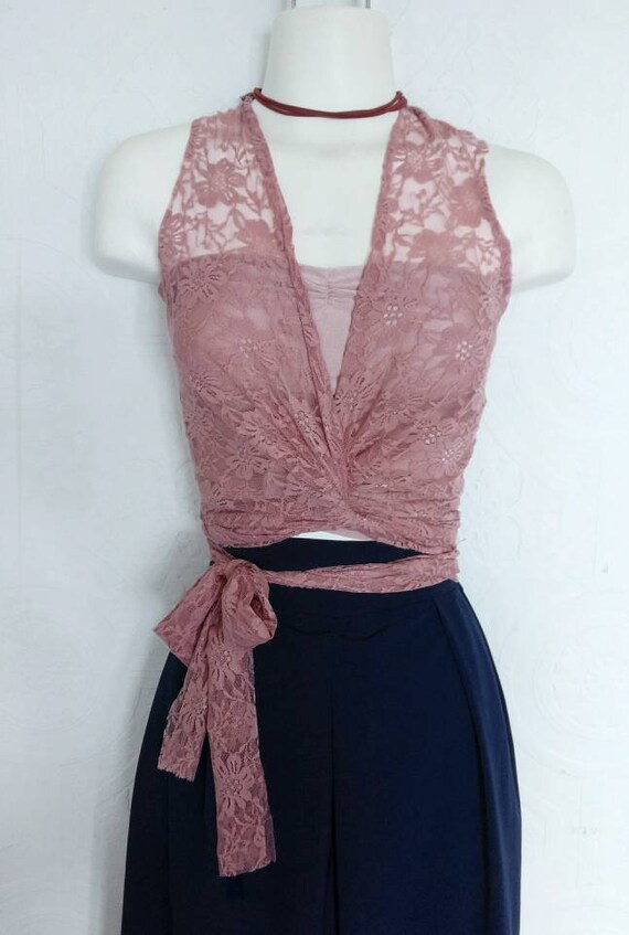 Lace Wrap Top / includes bandeau