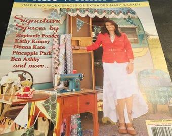 "Somerset Studio ""Where Women Create/Cook Inspirational Magazines by Stampington - Set of 3 Media Media Art Create-ologie"
