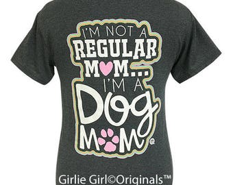 Girlie Girl Originals Dog Mom Dark Heather Short Sleeve T-Shirt