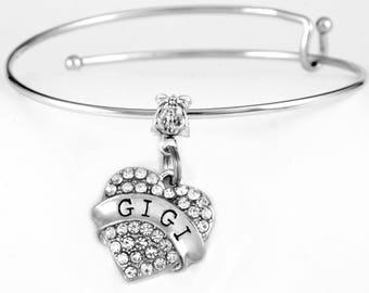 Gigi Bracelet Crystal Heart GIGI jewelry Crystal Heart Gift Crystal Heart Charm bracelet