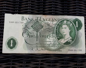 England One Pound Note 1963