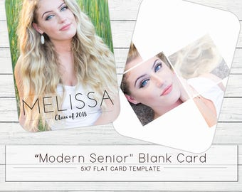 "5x7 ""Modern Senior"" - Blank Card Template"