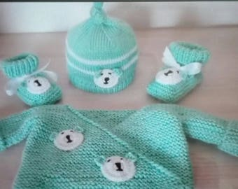 Top hat and slippers baby 0/3 months