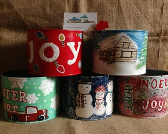 Winter Cheer Tin Can