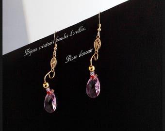 Jewelry designers earrings. Pink softness
