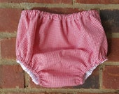 "Gingham LINED Diaper Cover 1/16"" Gingham"