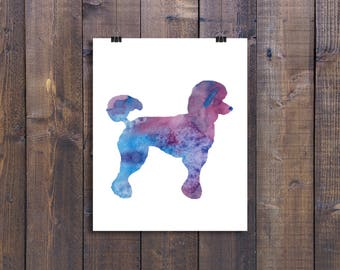Poodle Print, Poodle Prints, Poodle Pictures, Watercolor, Water color, Download, Dog Picture, Artwork, Dog Painting, Dog Prints, Printable