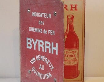 Item on Sale 20% off Vintage French Byrrh Wine Menu, Cafe,Bistro,French Advertising ,French Maison