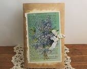 Vintage Lilacs Journal | Junk Journal | Handmade Journal | Diary | Blank Notebook