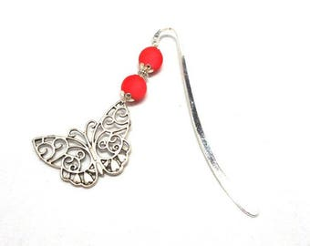 Brand pages fantasy silver, butterfly orange red beads