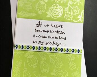 Good Bye Greeting Card