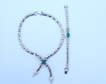 Kafin New York faux lariet necklace and bracelet set AA866