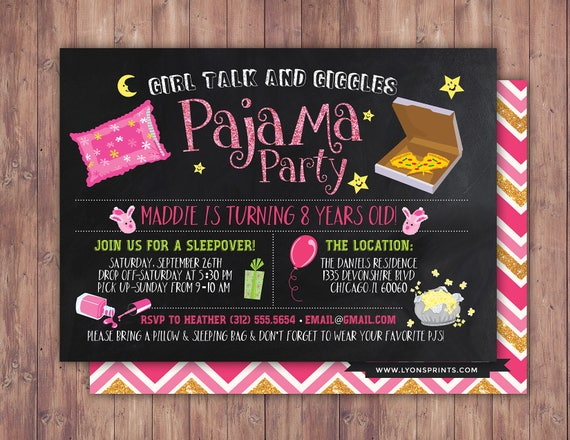 slumber party invitation girls slumber party invitations – Spa Slumber Party Invitations