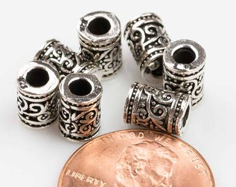 Beads 925 Bali Sterling silver 2 per order-s7