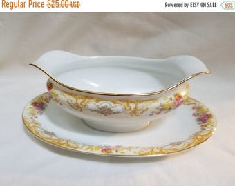Imperial China Gravy Boat with Attached Under-plate (800)