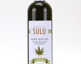 Cold Pressed Organic Hemp seed oil 100% pure all natural hemp oil  from 4 oz up to 7 lbs