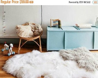 ON SALE Real, Natural, Genuine Creamy White Sheepskin Rug scandinavian design perfect for a Baby room