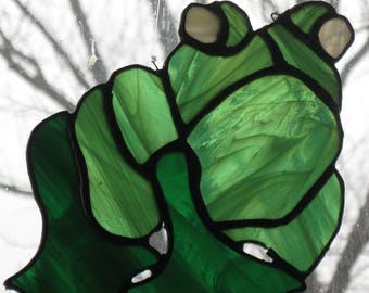 Stained Glass Frog Sun Catcher/Handcrafted/Made in USA