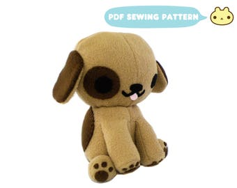 Plush Dog Sewing Pattern, Puppy Softie Sewing Pattern, Dog Sewing Pattern, Puppy Sewing, Puppy Dog PDF, Stuffed Dog Pattern, Puppy Dog Toy