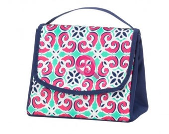 Monogram Lunch Box/ Personalized Lunch Bag/ Back to School/ Monogram School