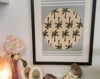 Palm Tree A3 digital print