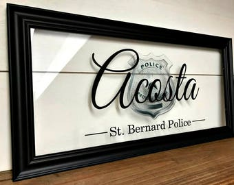 Police Academy Graduation, Cop Gifts, Cop Wife, Law Enforcement, Law Enforcement Gifts, Law Enforcement Decor, Law Enforcement Wife,  10X20