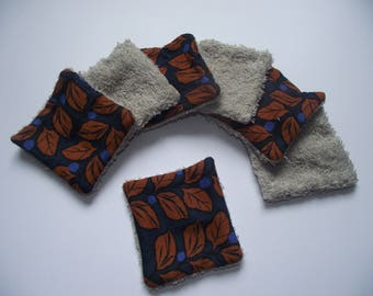 Set of 7 squares cleansing - autumn leaves