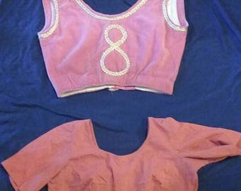 Lot of two 1940s CHOLI tops vintage ethnic women's tops