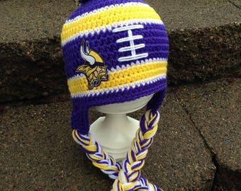Minnesota Vikings, Minneaota Vikings Baby, Minnesota Vikings Kids, Minnesota Vikings Hat, Vikings Baby, Crochet Winter Hat