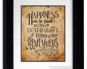 Harry Potter Quotes Download Albus Dumbledore Quotes Happiness Can Be Found We Must All Face Kids Room Harry Potter Inspired download DIY
