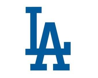 Los Angeles vinyl, LA, Baseball Dodger D Decal Sticker Vinyl