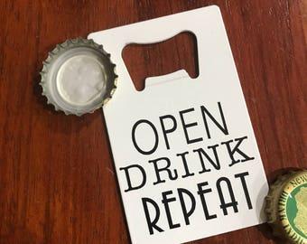 Credit card bottle opener - wedding favors - guest favors - bar gift - beer gift