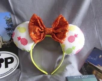 PIneapple Dole Whip Minnie/Mickey Mouse Ears/ Headband