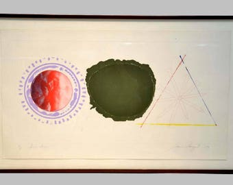 James Rosenquist Swing Screw 1979 Color Etching and Aquatint Modern Art Painting Listed American