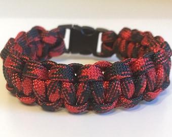 Red Camo Paracord Bracelet