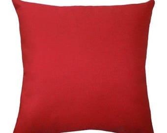 SALE Solid Red Pillow Cover, Hidden Zipper Pillow Cover, Red Throw Pillow, Solid Red Throw Pillow, Red Accent Pillow, Red Cushion Cover, Red