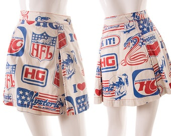 Vintage Hysteric Glamour 90s Logo Printed Skirt