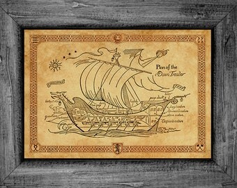 Narnia Voyage of the Dawn Treader Ship Art Print