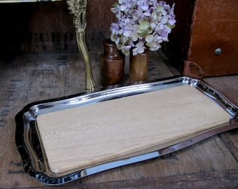 French Cheese Board, 1960s Cheeseboard, Silver Platter, Silver Serving Tray, French Vintage, French Kitchen, Chopping Board, Serving Tray