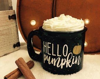 Hello Pumpkin Campfire Coffee Mug