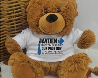 Personalised Page Boy Brown Bear