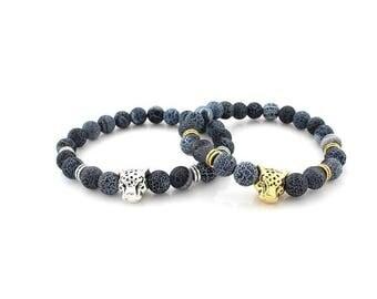 7 Chakra Healing Bracelet with Volcanic Lava, Mala Bracelet Meditation Bracelet - Protection, Energy,Healing,lion chakra