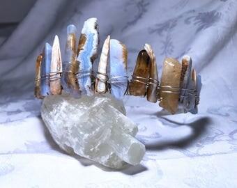 Crystal crown, crystal tiara, mermaid crown, healing crystals, crystal headband,  festival crown, boho crown, bridal crown
