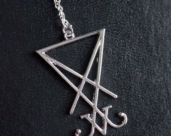 Sigil of Lucifer Necklace 925 Silver