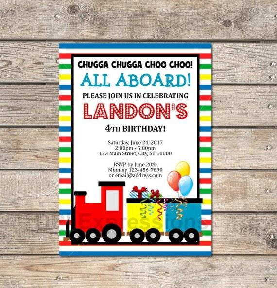 Choo choo train invitation custom train birthday party invitation il570xn filmwisefo