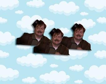"Ron Swanson Snake Juice Sticker Pack 3 ct 2 x 1.5"" - Parks and Rec - Parks and Rec Ron - Ron Swanson Stickers - Ron Swanson Gift"
