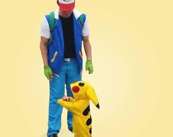 Pikachu Costume Pokemon Onesie 3T Cosplay