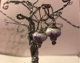 Artisan crafted Pandora Style Lever Back Earrings