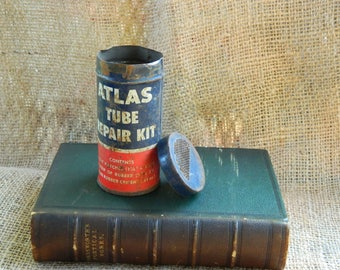 Vintage Atlas Tube Repair Kit ~ Tire repair FREE S&H