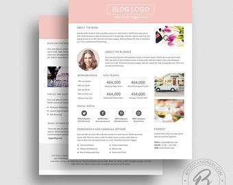 3 Page Media Kit Template 03 - Ad Rate Sheet Template - Press Kit Template - Pitch kit - Media Kit Template